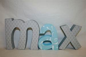 Baby nursery decor popular ideas wooden letters for baby for Kids name letters