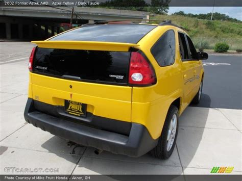 pontiac aztek yellow 2002 pontiac aztek awd in aztec yellow photo no 33254866