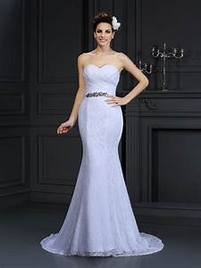 trumpet mermaid sweetheart sleeveless long lace wedding With hebeos wedding dresses