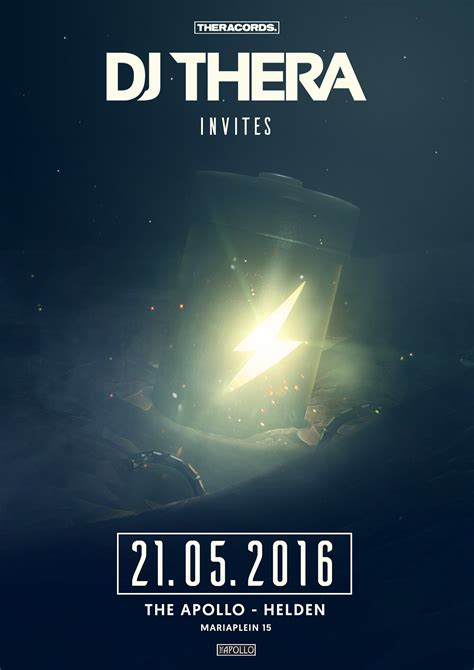 Event Poster Thera Invites + Speed Art on Behance
