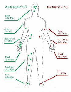 Body Injury Locations And Frequencies For Worst Injuries