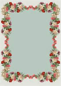 free printable vintage flower stationery unique for
