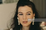 American actress Jennifer Caron Hall, daughter of French ...