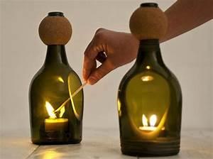 Bouteille De Verre : les bouteilles en verre relook es en objets d co elle d coration ~ Teatrodelosmanantiales.com Idées de Décoration