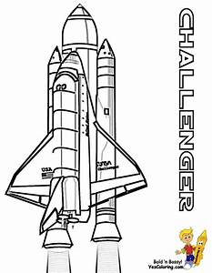 Challenger Space Shuttle Coloring Page - Pics about space
