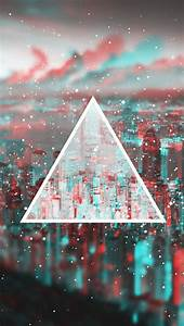 Gaming Lights Triangle Download Wallpaper 640x1136 Triangle Light Blurred