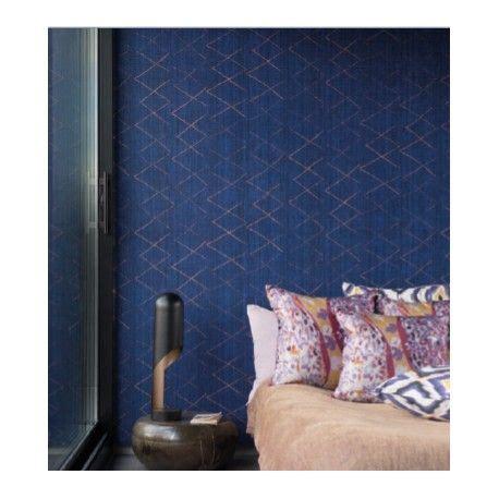 chambre bleu p騁 papier peint encens bleu elitis
