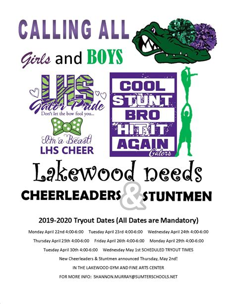 lakewood high school girls varsity cheerleading year