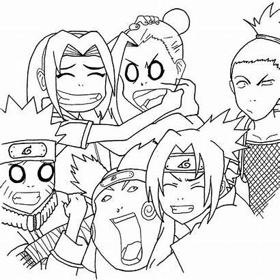Naruto Coloring Sheets Characters