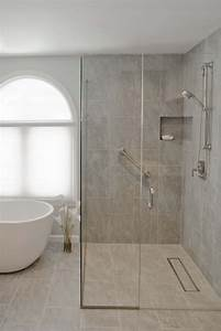 douche a l39italienne encastrable 50 salles de bains modernes With porte de douche coulissante avec carrelage salle de bain lapeyre mosaique
