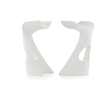 White Cloudy Stool - koncord slide stool in polyethylene also for garden