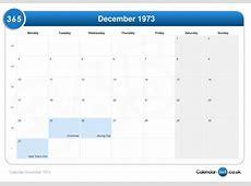 Calendar december 1973