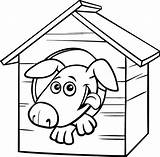 Dog Coloring Illustrations Clip Cartoon Character Doghouse Returned Zero Sorry Results sketch template