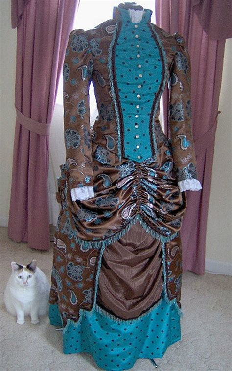 orders   victorian dress  bustle gown