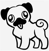 Pug Colouring Standing Cartoon Attempt Drawing Clipartmag Seekpng sketch template