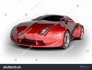 Red Sport Car Isolated On White Stock Illustration ...