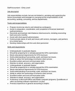Summary Of Qualifications For Entry Level Free 15 Sample Job Descriptions In Pdf Ms Word