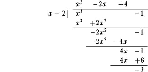 Long Division Polynomials Sample Problems