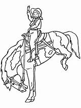 Coloring Cowboy Pages Printable Rodeo Cowgirl Coloringpages1001 Printables sketch template