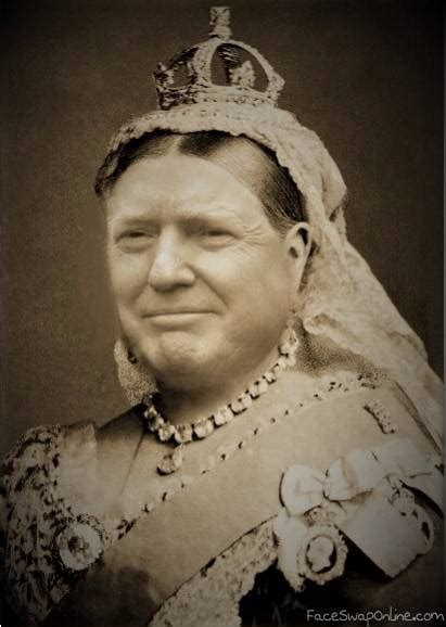 queen victoria trump face swap