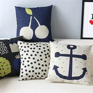 Nautical Navy Blue Throw Pillows : Great Home Decor - Navy