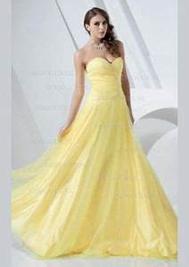 formal yellow wedding dresses beading bridal gown prom With yellow dresses for weddings