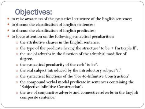 syntactical analysis   english sentence