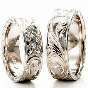 Hawaiian ring venus tears wedding band engagement ring for Hawaiian wedding ring sets