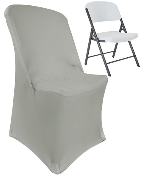 silver lifetime folding spandex chair covers stretch