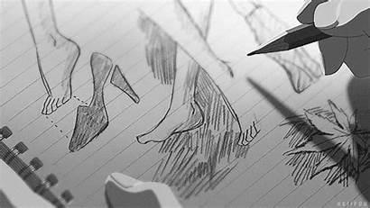 Anime Draw Garden Kotonoha Gifs Niwa Words