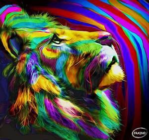 Leon en selva de Colores by AramisFraino Tattoo Pinterest Arte