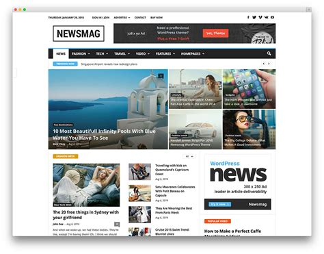 News Themes Newsmag News Magazine Newspaper Theme
