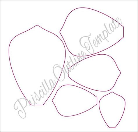 Paper Flower Template Best 25 Paper Flower Templates Ideas On