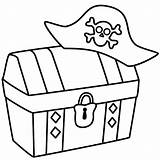 Pirate Treasure Chest Hat Coloring Pirates Drawing Flag Box Jolly Roger Line Clip Clipart Pages Easy Template Chests Clipartmag Getdrawings sketch template