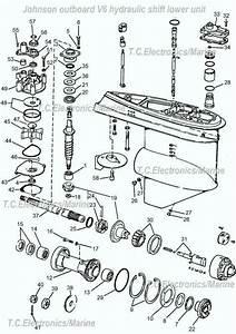 V6 Johnson Hydraulic Shift Omc Parts Drawing   1
