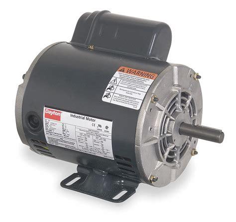 dayton 1 1 2 hp general purpose motor capacitor start 3450 nameplate rpm voltage 115 208 230