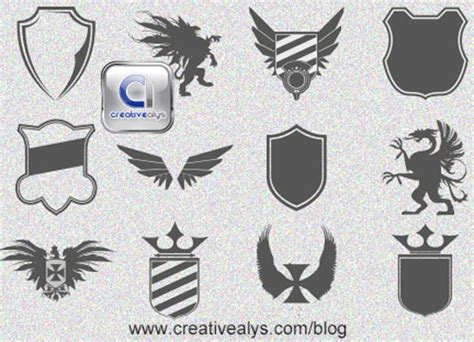 attractive vector shields  designers