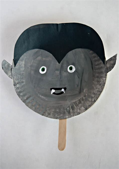 paper plate halloween stick puppets easy halloween craft