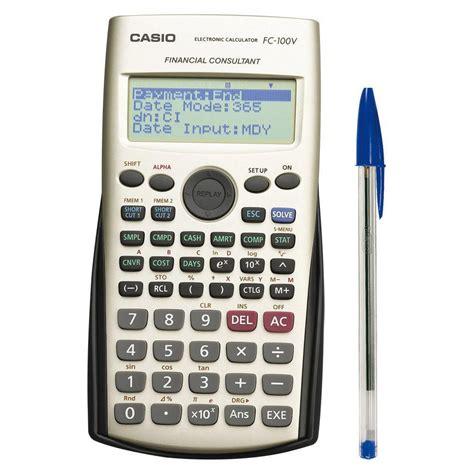 Casio FC-100V calculadora financiera | Kalamazoo.es
