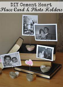 DIY Cement Heart Place Card and Photo Holders - Life is a ...