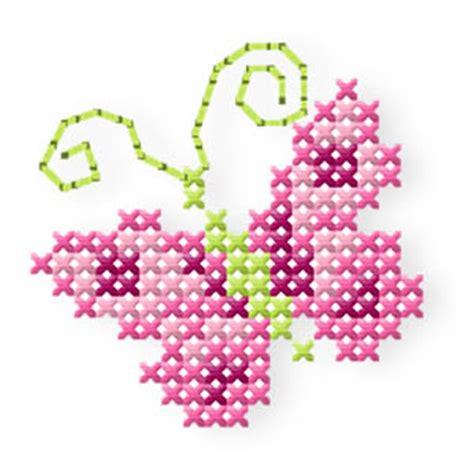 der stickbaer butterfly roses stickmuster mit herz