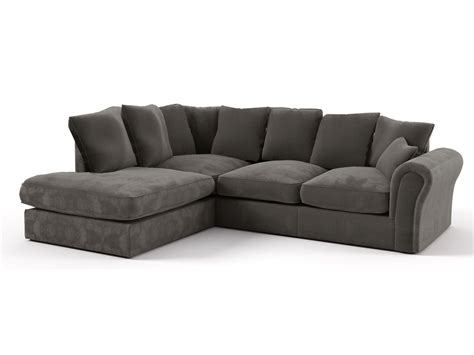 canape tissus angle canapé d 39 angle tissu quot dayana quot 4 5 places gris foncé