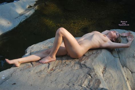 Nude Girlfriend Stretched Out On Rocks September Voyeur Web Hall Of Fame