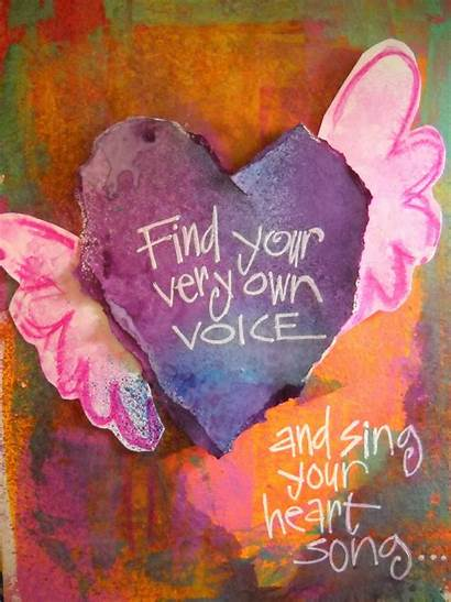 Voice Heart Song Sing Whimspirations Creative