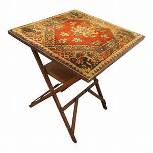 Folding Bridge Table    Card Table With Carpet Top C 1920
