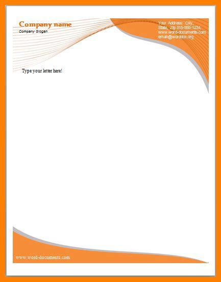 editable letterhead templates letter flat