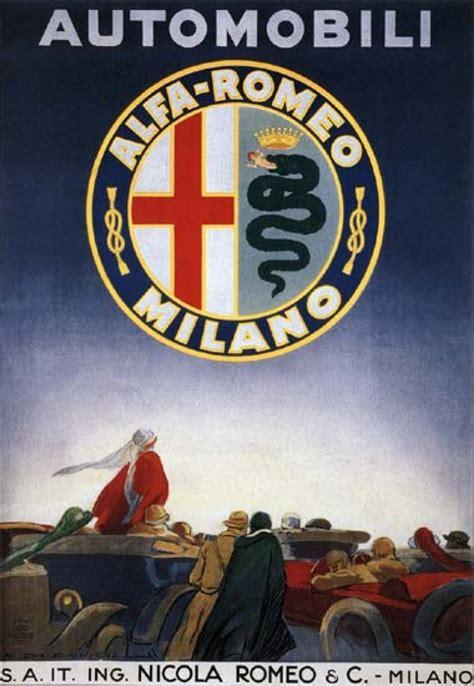 Vintage Italian Alfa Romeo Automobile Ad Poster Retrosnapshots
