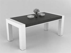Solde Table A Manger : table manger asteroide mdf plateau effet ardoise ~ Teatrodelosmanantiales.com Idées de Décoration