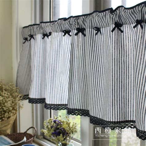 Kitchen Curtains Canada by Mediterranean Country Rustic Stripe Kitchen Cafe