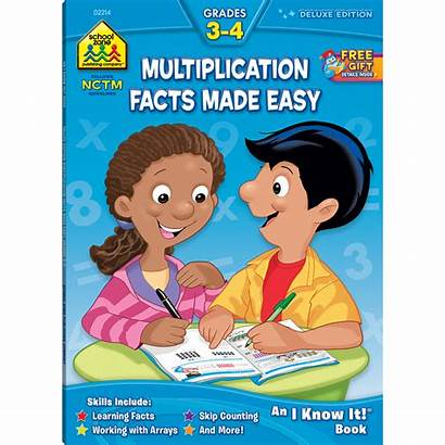 Multiplication Facts Easy Workbook Deluxe Edition Zone